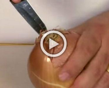 Con este sencillo truco, tus ojos nunca llorarán más al cortar cebollas... ¡GENIAL!
