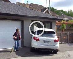Un conductor sin licencia involucrado en un accidente entró en pánico e hizo esto