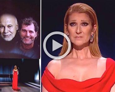 Céline Dion llora al interpretar por primera vez una nueva y emotiva canción a su marido