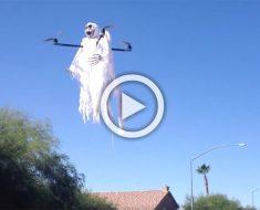 Este chico ha creado algo espeluznante para Halloween que asustará a todo su barrio