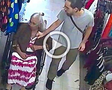 Un hombre roba el dinero de una señora mayor, a continuación tiene lo que se merece