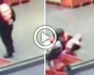 El vídeo viral de la semana: empleado de una tienda captura a un bebé en el aire evitando un desastre