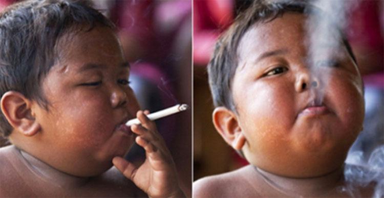¿Recuerdas al famoso niño que fumaba 40 cigarrillos al día? Mira cómo es ahora su vida