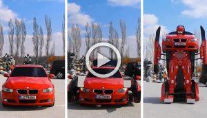 Ingenieros turcos acaban de hacer un BMW que se conduce y se convierte en... ¡un Transformer!