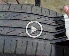 Así es como los estafadores convierten neumáticos viejos y poco seguros para que parezcan nuevos