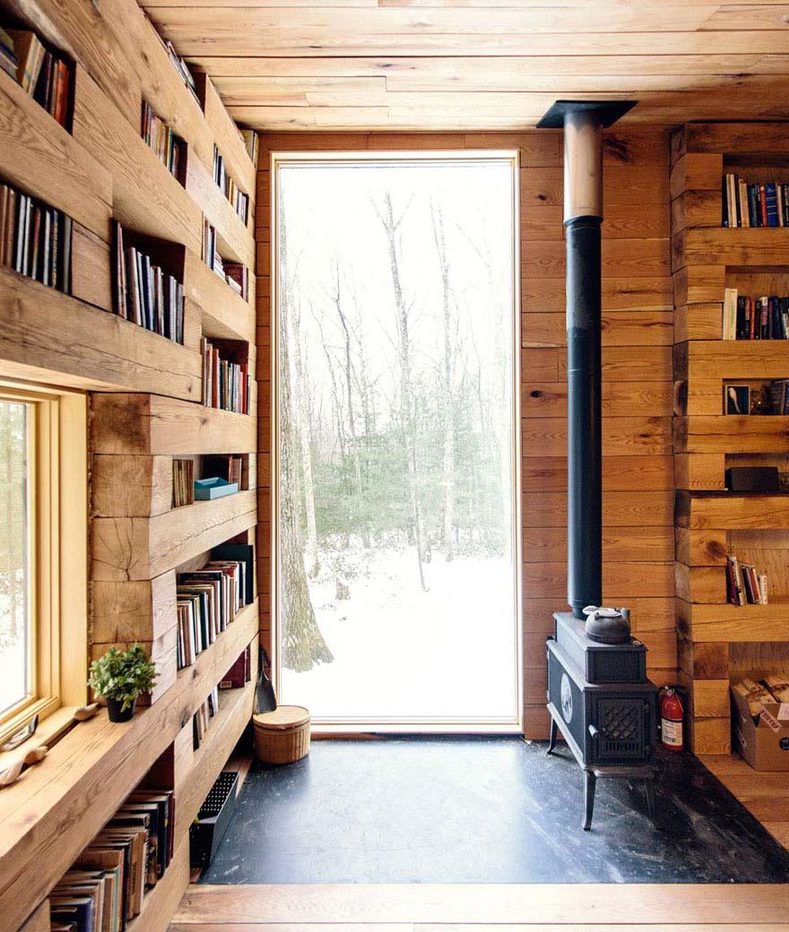 Esta biblioteca aislada en el bosque es el sueño de todo aficionado a los libros