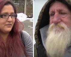 Una luchadora madre soltera gana dinero a la lotería, después hace esto a un triste vagabundo