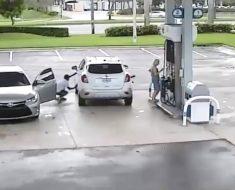 Cámara oculta revela los peligros de no estar atentos mientras se está en la gasolinera