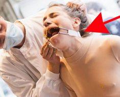Esta mujer es torturada en el centro de Londres para recrear el maltrato que sufren los animales