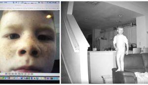 Un padre puso una cámara oculta y a las 2 de la madrugada captura a su hijo de 6 años haciendo esto