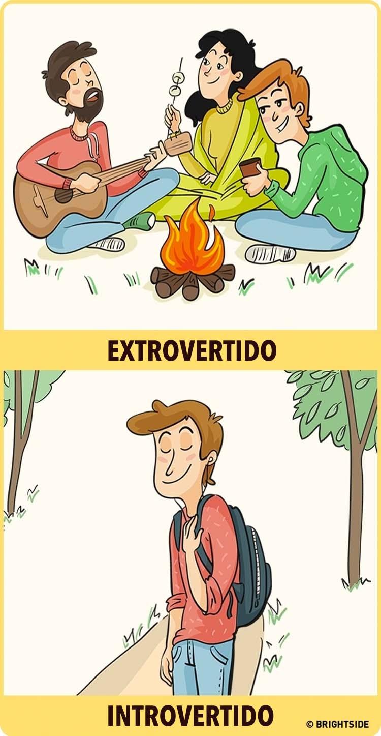 8 ilustraciones que muestran cómo los introvertidos y los extrovertidos ven el mundo