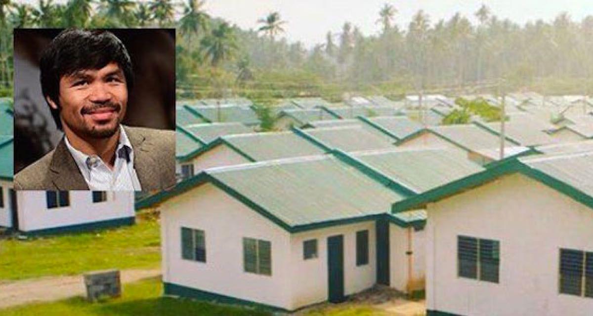 Este campeón del mundo de boxeo construyó 1000 casas y cambió la vida de muchos filipinos pobres