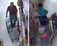 Las cámaras de seguridad sorprenden a un hombre haciendo esto a las mujeres que compraban