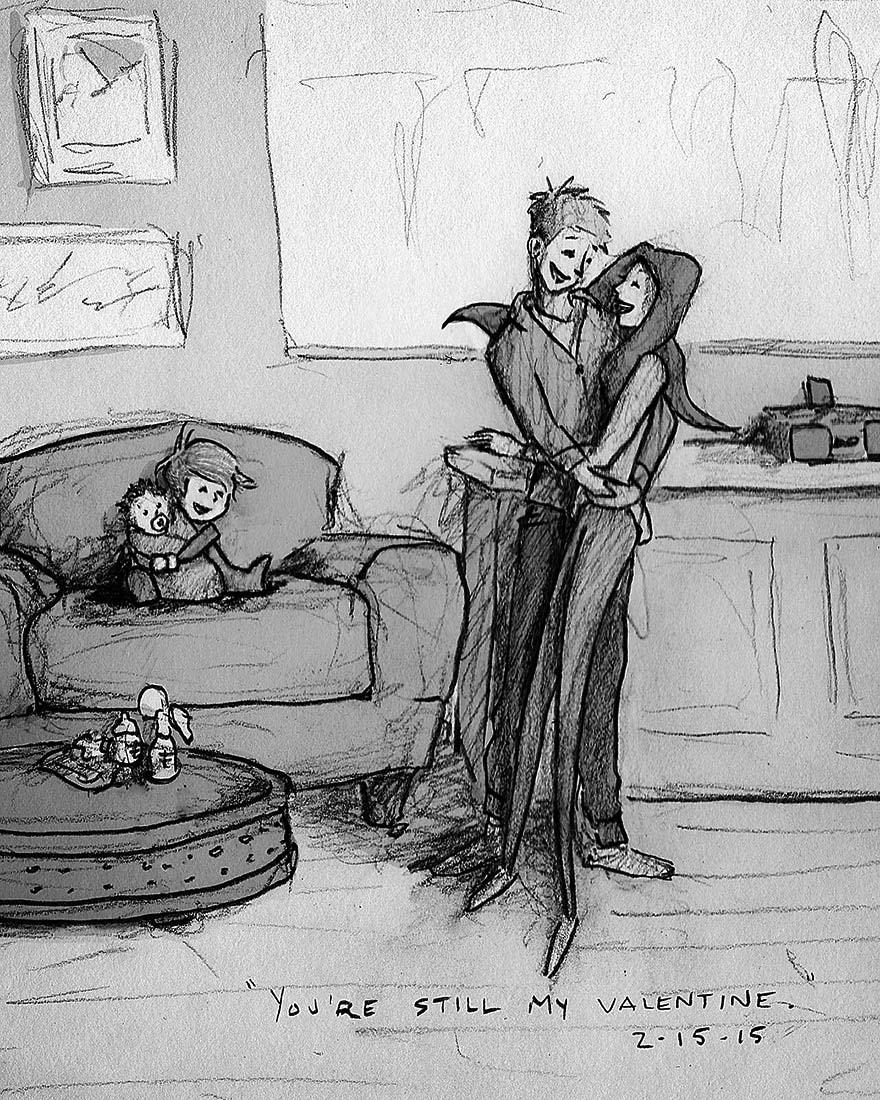 Este marido ilustró cada uno de los días que vivió con su mujer en 365 increíbles imágenes