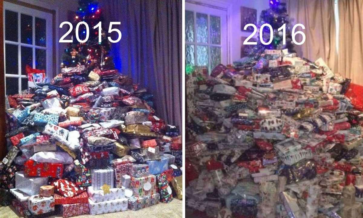 En la Navidad de 2015 le dijeron de todo al gastar 1300 dólares en regalos para sus hijos. Este año les dará 288