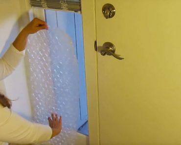 Pone plástico de burbujas en la ventana. ¿La razón? ¡Este truco te ahorrará un montón de dinero!
