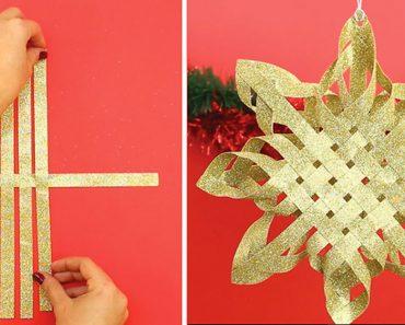 Aprende cómo hacer esta Poinsettia de papel para poner en tu árbol de Navidad. ¡Espectacular!
