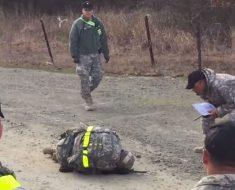 Esta mujer militar se niega a rendirse durante esta dura prueba ¡Atención a la reacción de los demás!