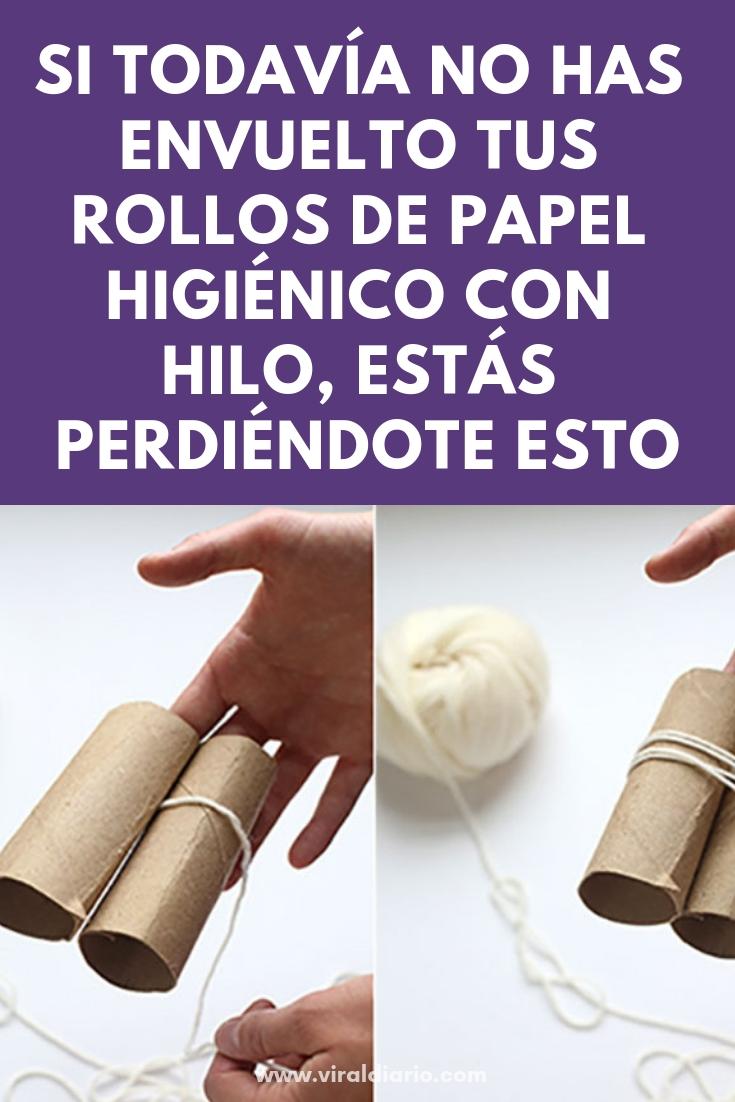 Si todavía no has envuelto tus rollos de papel higiénico con hilo, estás perdiéndote ESTO