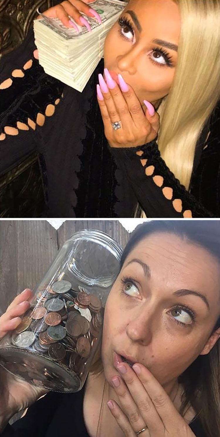Esta mujer ha recreado las fotografías más extravagantes de los famosos ¡Ahora mira el resultado!