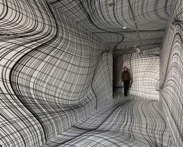 Este artista convierte paredes planas en vórtices en remolinos que sorprenderán a tu cerebro