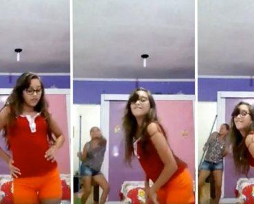 Esta chica estaba grabando un baile cuando de repente mira quién aparece... 2