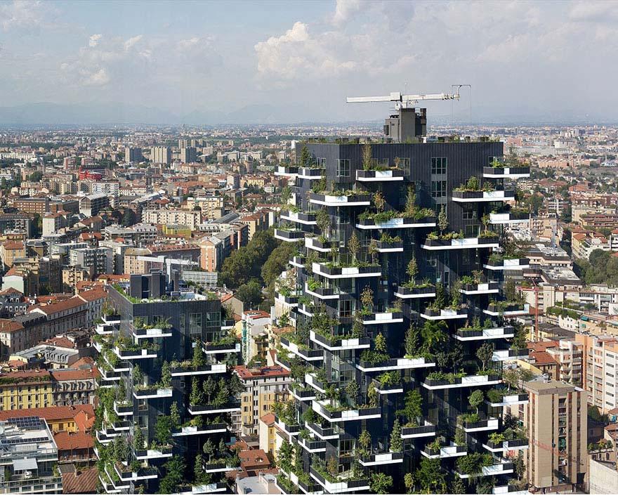 El primer bosque vertical de Asia tendrá más de 3.000 plantas y producira 60kg de oxígeno al día