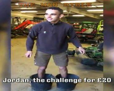 Le proponen un reto: si levanta su propio peso logrará 20 libras. ¿Lo conseguirá?