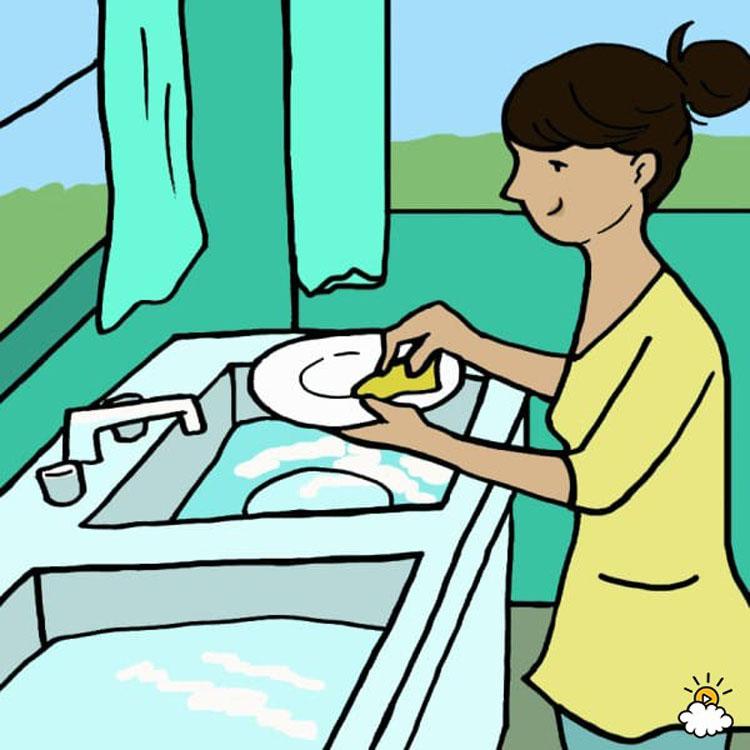 Lavando a mano hand washing - 2 6