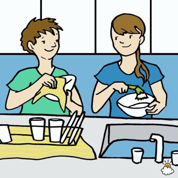 7 cosas que pueden afectar a su salud y a su vida al lavar los platos a mano. Black Bedroom Furniture Sets. Home Design Ideas