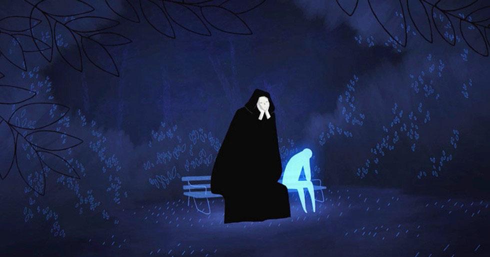 Esta impresionante animación sigue a un alma perdida que conoce la muerte