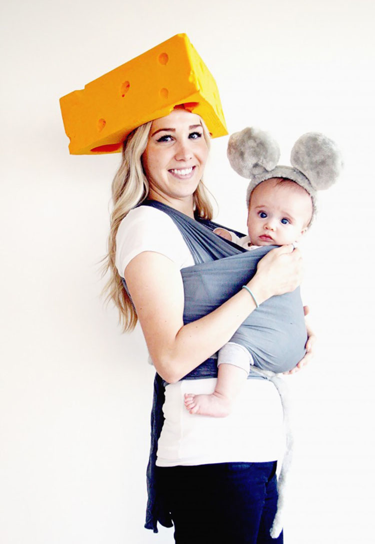 20 ideas geniales de disfraces para Halloween para padres con mochilas porta bebé 16