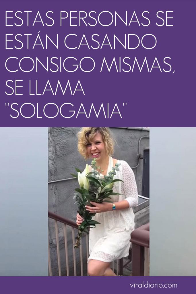 """Estas personas se están casando consigo mismas, se llama """"Sologamia"""""""